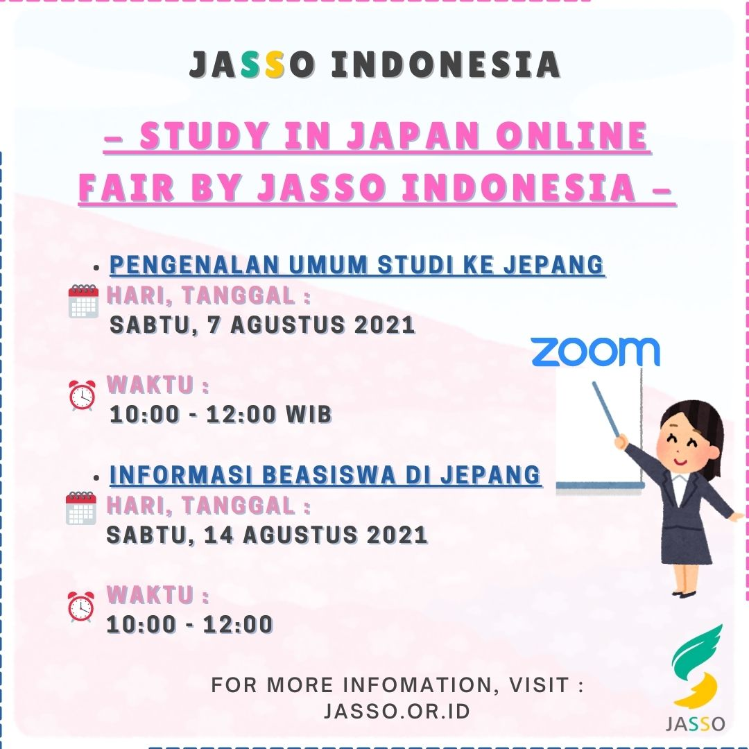 Study in Japan Online Seminar by JASSO Indonesia